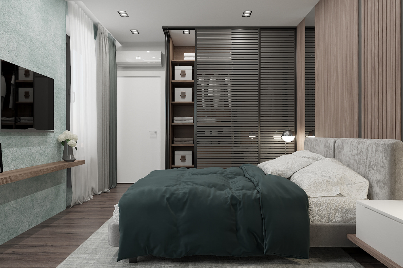Modern style apartment interior design