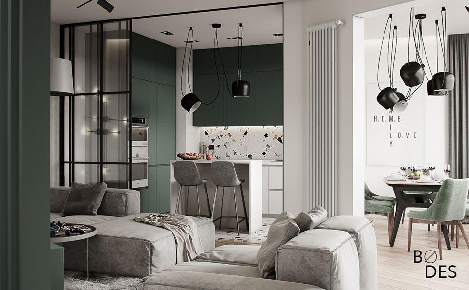 Scandinavian style apartment interior design