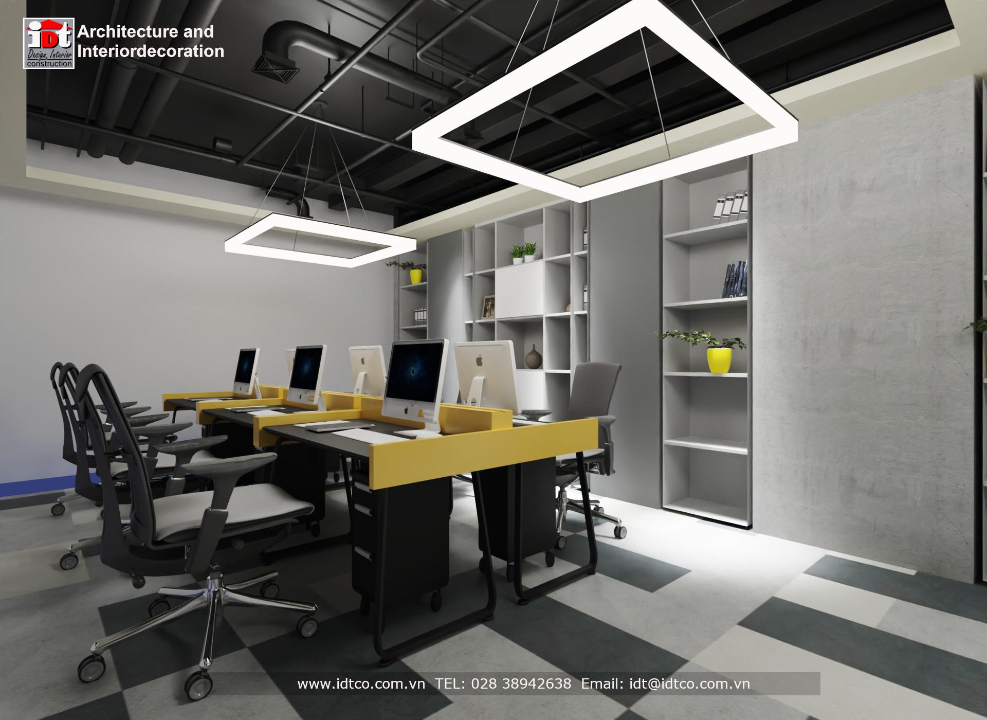 xưởng nhận thi công nội thất văn phòng