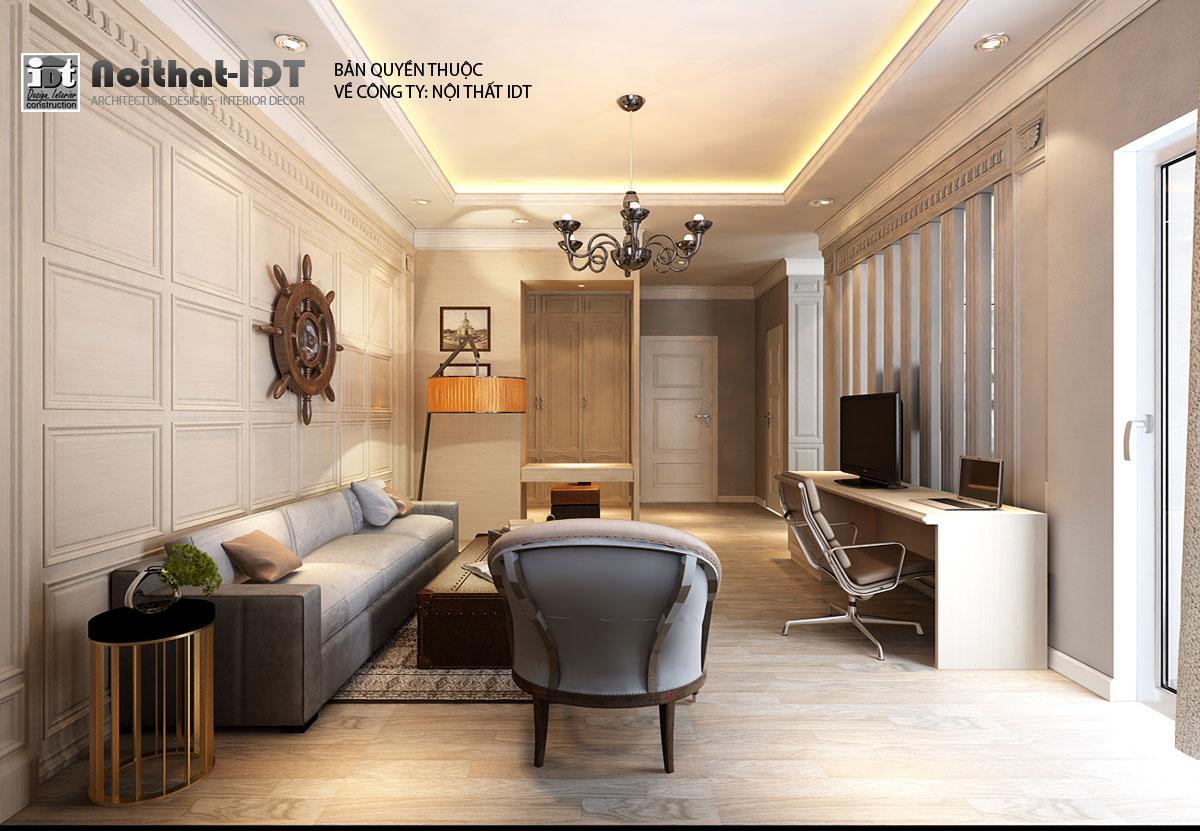 Thiết kế nội thất phòng sinh hoạt chung Biệt thự sang trọng