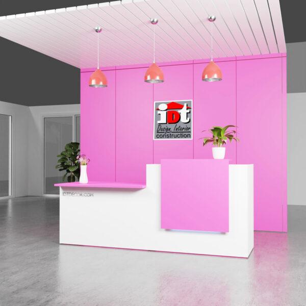 Quầy lễ tân - Quầy Spa trắng hồng