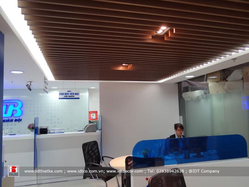 Thi công nội thất ngân hàng MB Bank