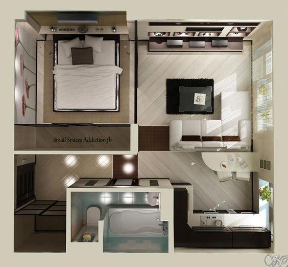 Thiết kế thi công nội thất căn hộ nhỏ