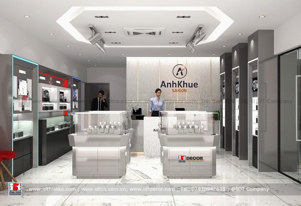 Interior design Watch shop, product display showroom