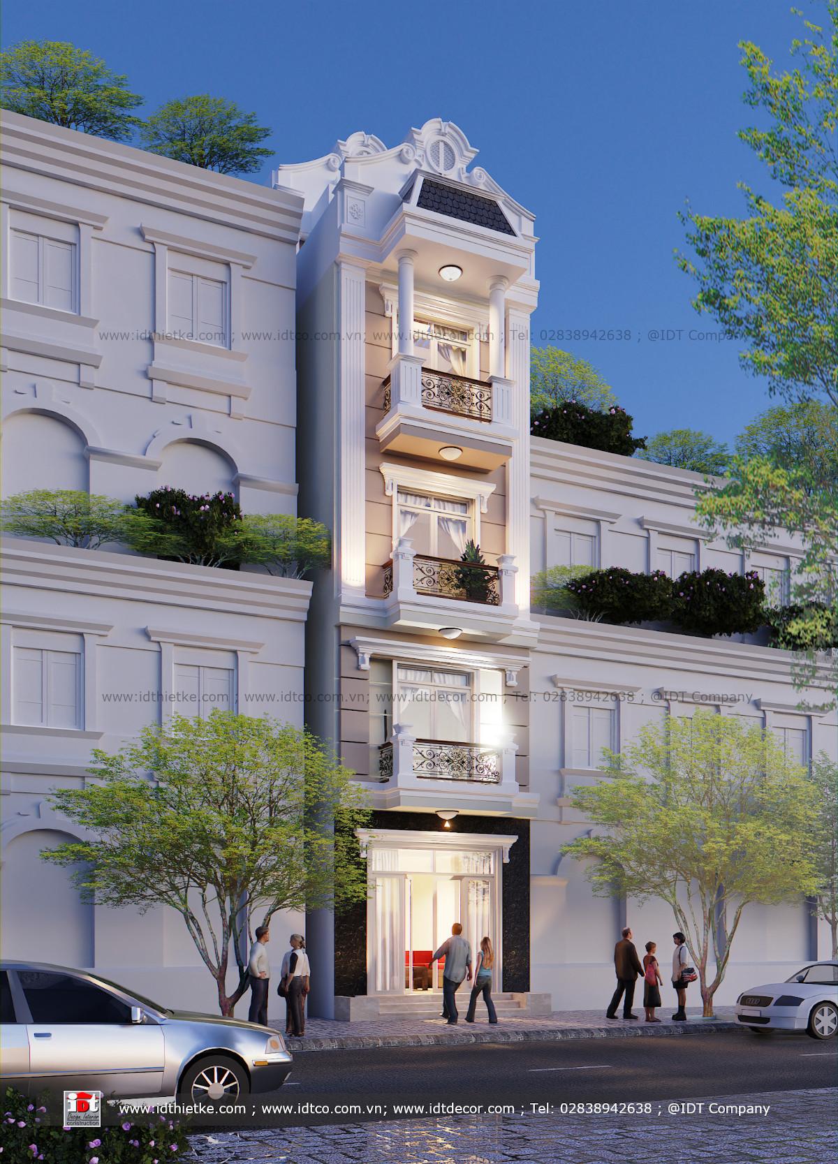 Thiết kế nhà phố phong cách cổ điển
