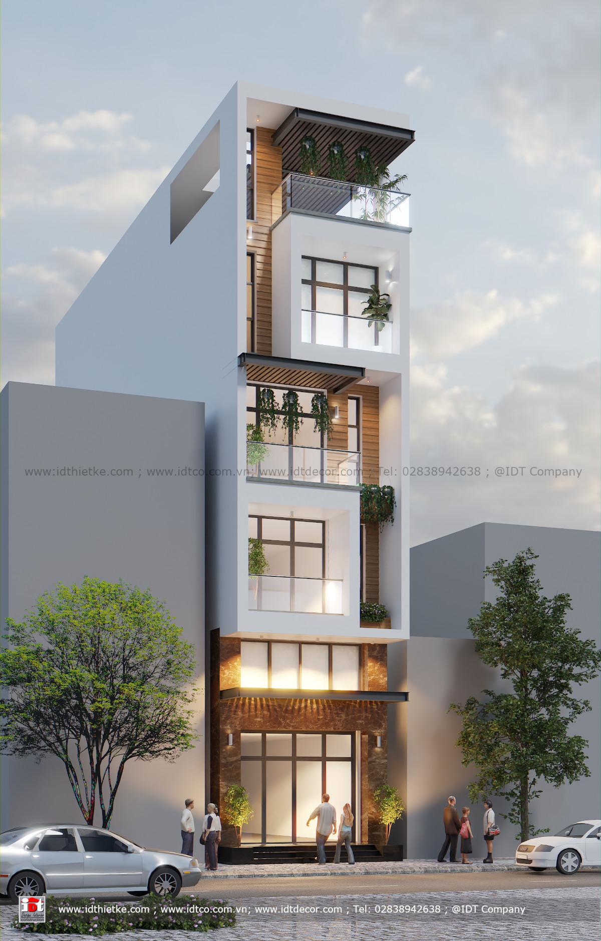 Thiết kế Nhà Phố 5 Tầng 5x20m Ấn Tượng phong cách hiện đại