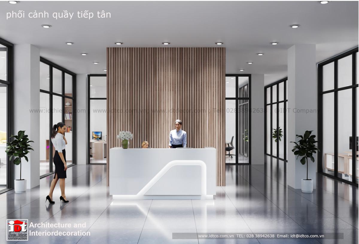Thiết kế sảnh tiếp tân nội thất văn phòng