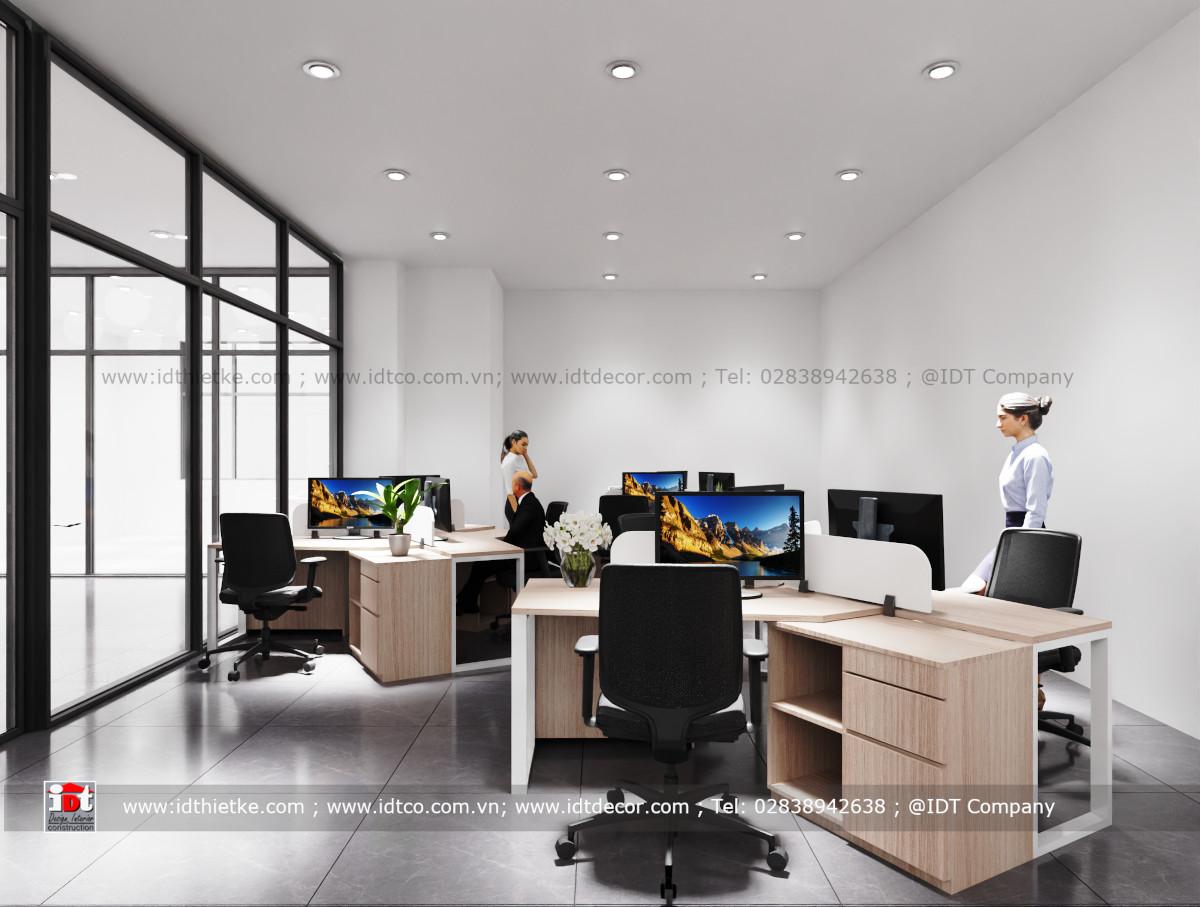 Thiết kế Nội thất phòng làm việc nhân viên